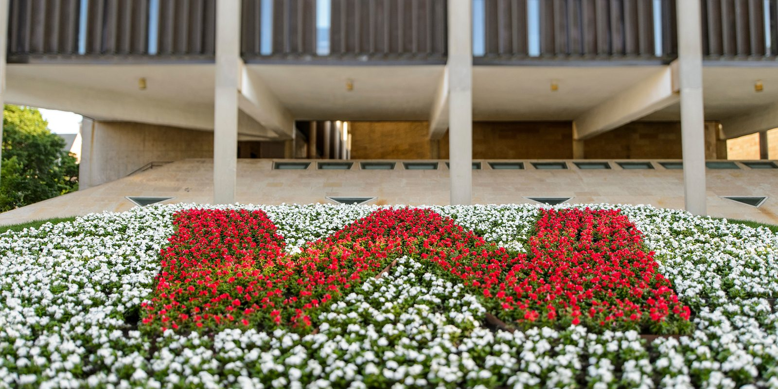 Full Banner Arts Humanities Building Flowers 1600X800 3 30 18