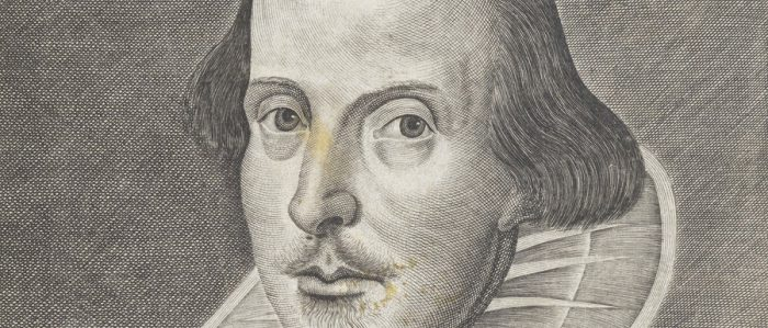Droeshout Portrait First Folio Folger Half Rotator 900X426