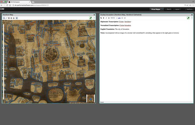 Digital Mappa Hereford Map Annotations Slideshow 645X415