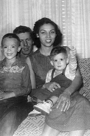 The Sandefur family in 1956. From left: Gary, his father Cleo, his mother Jessie Lee and his brother Richard. (Submitted photo)