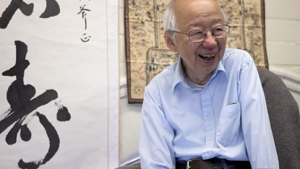 Yi-Fu Tuan, J.K. Wright and Vilas Professor Emeritus of Geography, in his office in Science Hall. (Sarah Morton - L&S)