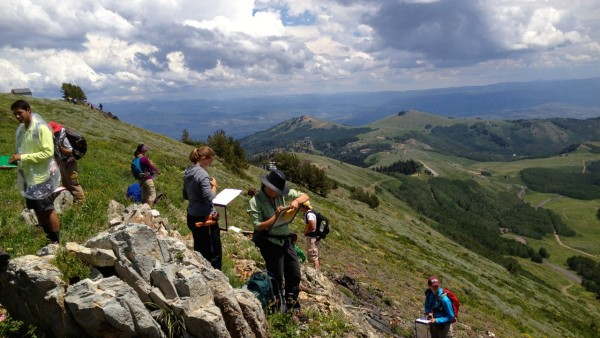 Private support from corporations and foundations sustain student experiences such as the Wasatch-Uinta Field Camp in the Department of Geoscience, sponsored by BP North America. (Photo courtesy Phil Brown, Department of Geoscience)