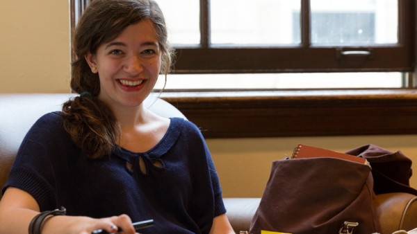 Macy Salzberger (x'14), Socratic Society president (Sarah Morton, College of Letters & Science)