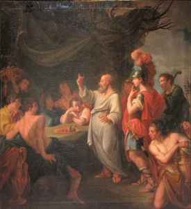 Socrates teaching Perikles and others