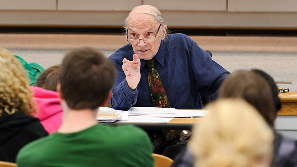 Harold Scheub joined the faculty of the Department of African Languages and Literature in 1970, after completing his Ph.D. at UW-Madison. (Photo by Jeff Miller, University Communications)