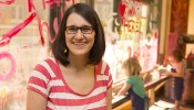 "Anna Zeide was one of five UW-Madison graduate students who received public humanities fellowships through an experimental program, ""Engaging the Humanities,"" launched by the UW-Madison Center for the Humanities. (Photo by Sarah Morton, College of Letters & Science)"