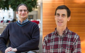 Computer sciences Professors Ben Liblit (left) and Tom Reps (right) will spearhead the UW-Madison side of the Pliny project, which has been compared to an autocorrect or autocomplete system for programming code.