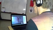High school students receive mentoring and language practice with UW-Madison students via Skype. (Submitted photo)
