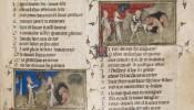 A page from the Ferrell-Vogüé manuscript of medieval composer Guillaume de Machaut.