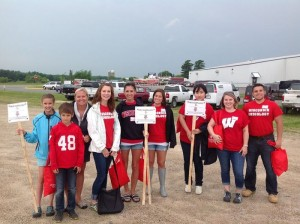 Audiology students and professors at the Tomah Tractor Pull last June.
