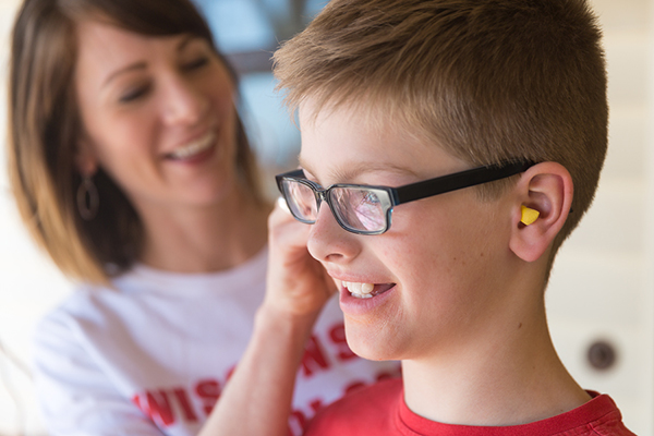UW-Madison associate audiology professor Melanie Buhr-Lawler says it's especially important to protect children's hearing in noisy settings.