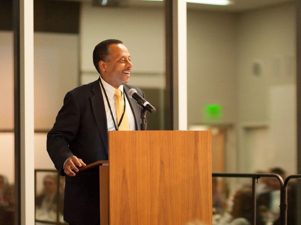 Earl Lewis, president of the Andrew W. Mellon Foundation, addresses the consortium (Photo by Nathan Jandl)