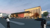 An artist's depiction of the Hamel Music Center. Construction is scheduled to begin in late 2016, with the center opening in 2018. (Image courtesy Holzman Moss Bottino Architecture and Strang Architects)