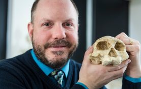 Paleoanthropologist John Hawks, professor of anthropology at the University of Wisconsin-Madison (Photo by Jeff Miller, UW-Madison)